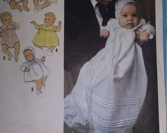 Vintage Simplicity 8971 Sewing Pattern Baby Wardrobe or Christening