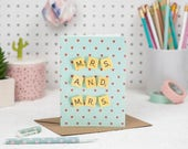 Same Sex Wedding Card, Mrs and Mrs Card, Lesbian Wedding Card, Gay Wedding Card, Scrabble Inspired Greetings Card | Claireabellemakes