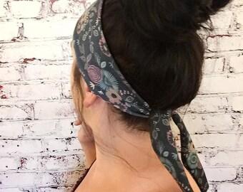 Tie-Back Headband - Stella Femme - Indigo - Boho Headband - Yoga Headband - Eco Friendly Fabric
