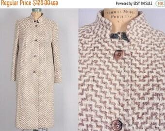 40% SALE 1950s Coat // Vintage Wool Jacket // Women's Outerwear chunky woven (medium / large)