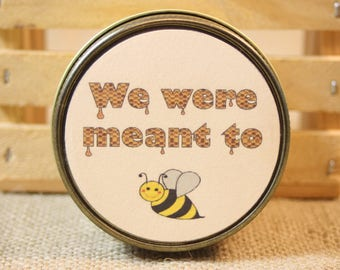 Wedding Favors We were meant to bee, 24 Wedding Favors 4 Ounces Each, Customize Honey Scented Yellow Candle Wedding Favors