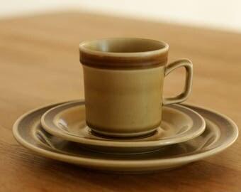 Stavangerflint Plate, Saucer, Cup Finse Stoneware Mid Century Modern