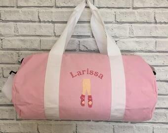Dance Bag. Personalised dancing bag. Sports Bag. Barrel Bag.
