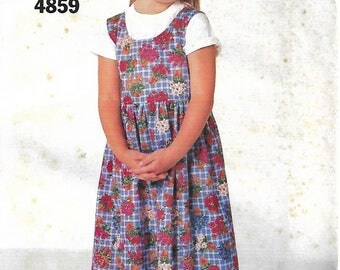 Butterick See & Sew 4859 Size 1-2-3 Toddlers' Jumper Sewing Pattern 1997 Uncut