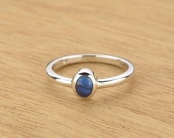 0.21ct Semi-Black Opal Ring in 925 Sterling Silver Size 4.5 SKU: 1979S020