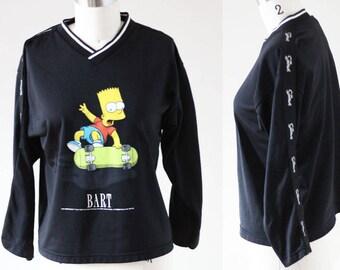 1990s Bart Simpson long sleeve tee // 1990s Simpsons tshirt // vintage t-shirt