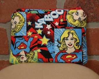 One Snack Sack, Supergirl, Reusable Lunch Bags, Waste-Free Lunch, Machine Washable, Back to School, School Lunch, item #SS56