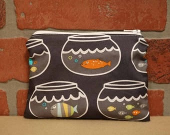 One Snack Sack, Reusable Lunch Bags, Waste-Free Lunch, Machine Washable, Fish Bowl, Back to School, School Lunch, item #SS76