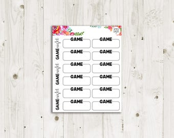 Mark a Game Stickers - ECLP, Happy Planner, TN Planner Stickers