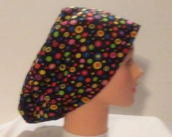 Euro scrub cap of 100% cotton