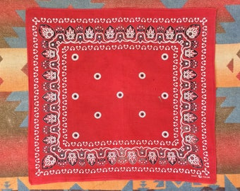 """Vintage 1930s 1940s Trunk Down Elephant Brand Fast Color Bandana by David & Catterall. 21 1/2"""" x 22"""""""