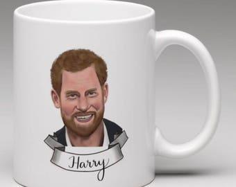 Prince Harry Illustrated Mug