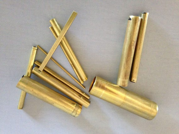 Brass tube set for making designs and impressions in clay, fondant and more this 11 pc set incluedes 10 round and 1 square tubes