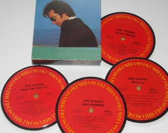 Boz Scaggs vinyl record coasters, record album coasters for drinks
