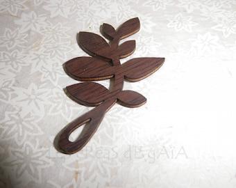 1 x set of 3 leaves Brown balsa