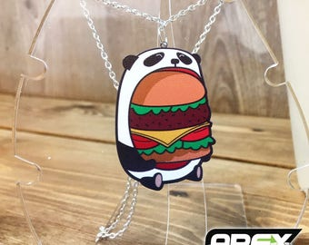 Greedy Panda - Burger Time - Stunning Acrylic Necklace by Ashley @ Pixiebitz!