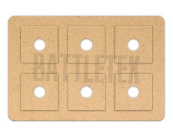 Wargaming Movement Trays with Bases - Landscape Square Bases with Magnet Holes 5 x 15mm - 30mm Bases - Terrain - Warhammer  - By Battletex