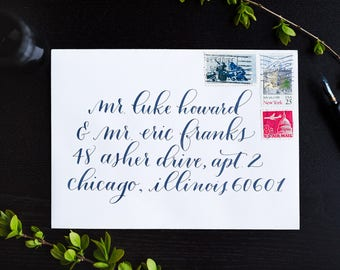 Old Fashioned Style Wedding Calligraphy