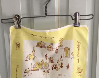 Vintage Hankie, Germany, Persia, IMI, Perwoll, Cleaning Products, Laundry, Woman Washing, Marketplace, Children, Town Center