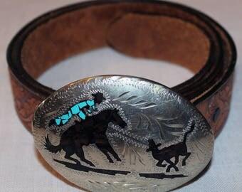 Vintage Handmade Rodeo Calf-Roping Belt Buckle