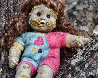 Blistered Bonnie (OOAK horror doll)