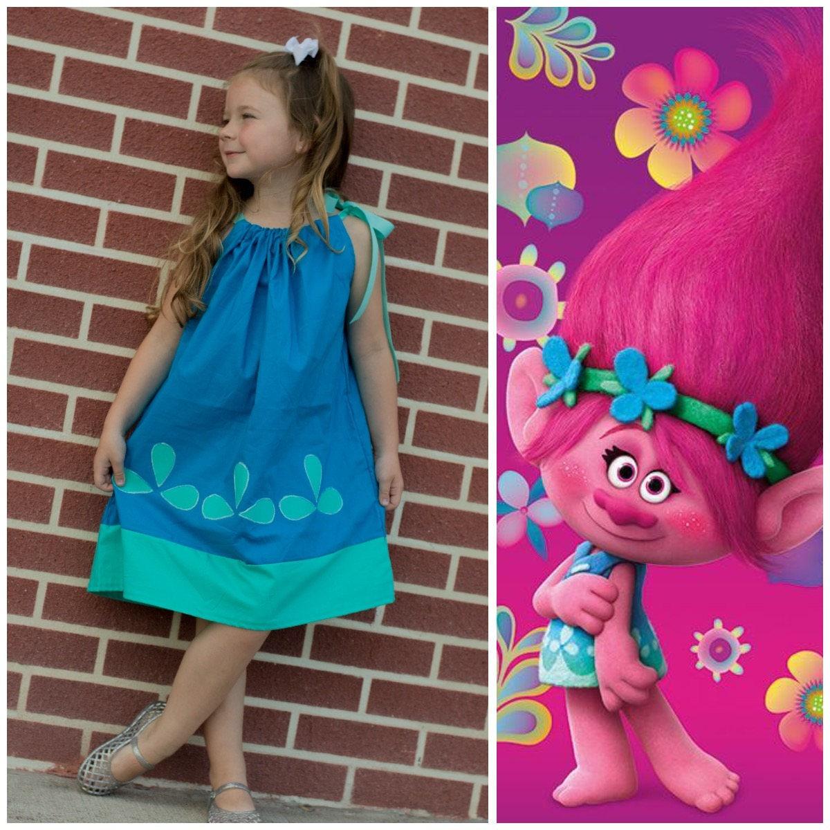 Poppy Dress Trolls Birthday Party Poppy Halloween Costume