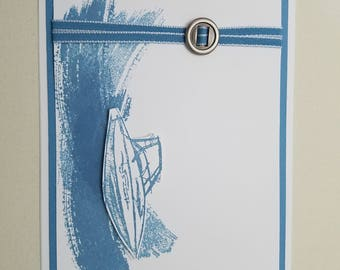 Speed Boat All Occasion Card, blank inside