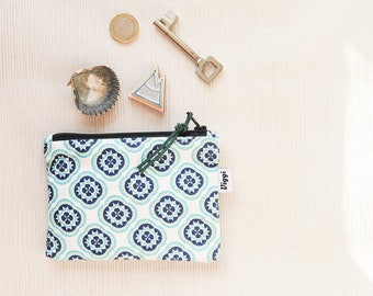 Small Wallet, Cute Coin Purse, Boho Change Pouch, Circle Bag