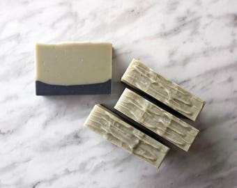 Shea Butter Shaving Soap, Bamboo and Teak, Cold Process Soap with French Green Clay