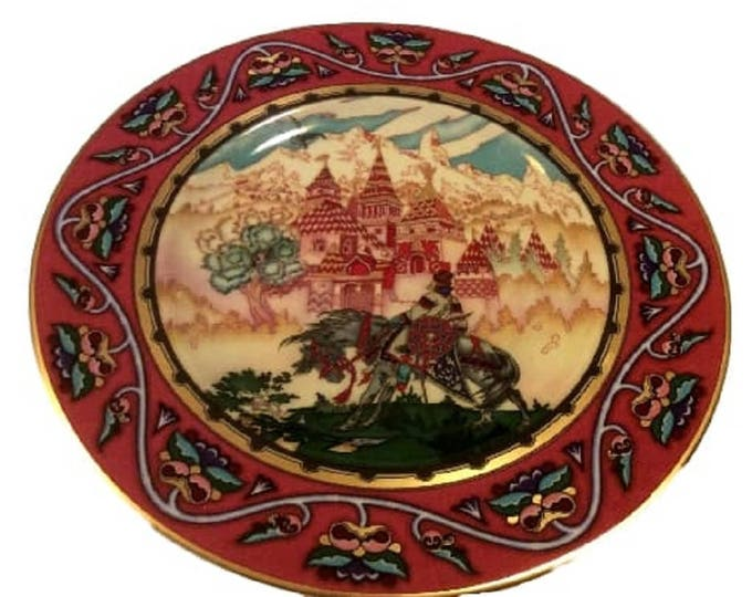 Vintage Villeroy & Boch Tsarevich Ivan and The Beautiful Castle, Russian Fairy Tales, Heinrich Wall Decor Plate, Old Russia