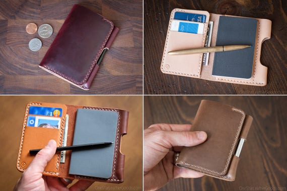 "BUILD-YOUR-OWN - ""Park Sloper Junior"" Tiny notebook wallet and pen - for Fisher Space Pen and Kaweco Liliput Fountain Pen"