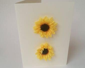 """The """"Flowers of sunflower"""" card sold with its envelope"""