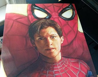 Spiderman Homecoming Tom Holland Marvel 11x17 Fine Art Luster Print Free Shipping