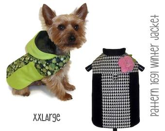 Winter Dog Jacket Pattern 1691 * XXLarge * Dog Clothes Sewing Pattern * Dog Coat Pattern * Dog Apparel * Designer Dog Clothes
