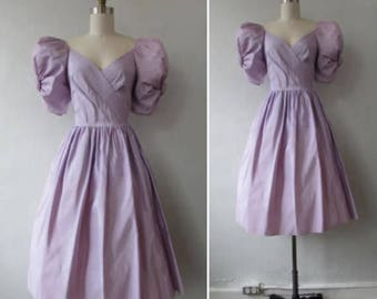 30% Off Flash Sale 1980s dress | vintage 80s dress | vintage dress | vintage 1980s taffeta lilac party dress | small | The Lilac Sugar Plum