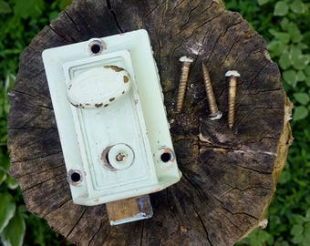 Vintage Elgin Inner Door Deadbolt Lock