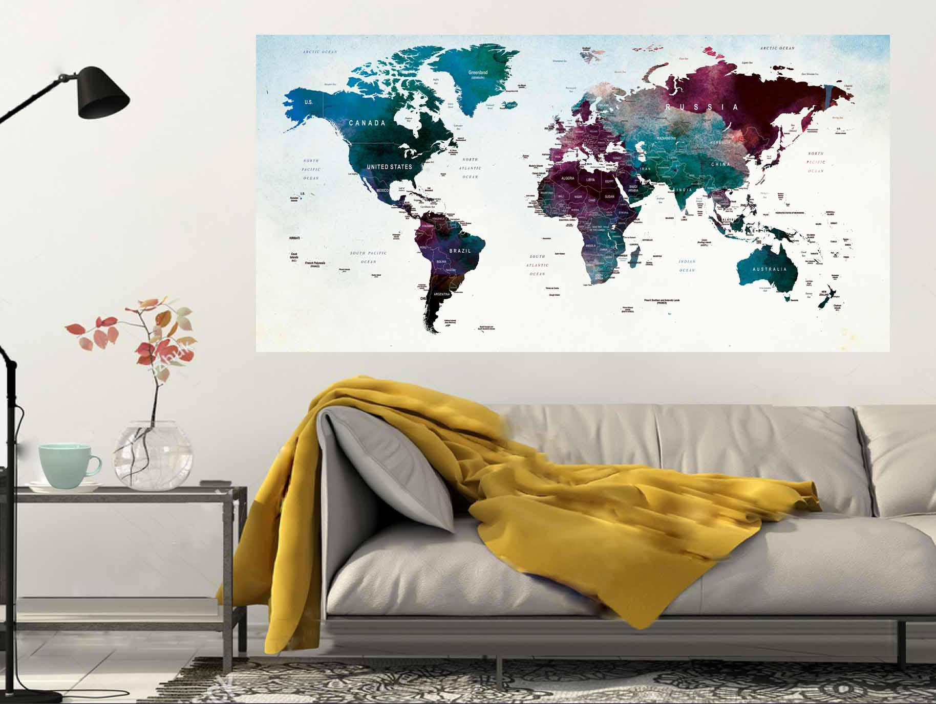 World mapworld map wall decalworld map posterlarge world map world mapworld map wall decalworld map posterlarge world map wall decalpush pin map posterpush pin map wall decalworld map wall art gumiabroncs Images