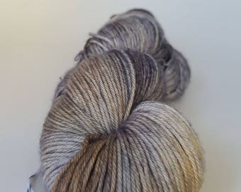 TO order skein of Superwash Merino / Nylon - Fingering - Sock - ash and burnt wood color