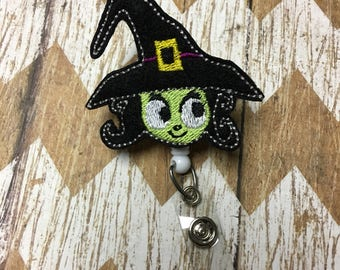 Witch Badge Reel, Retractable Name Badge, ID Holder, Teacher ID Clip, Badge Pull
