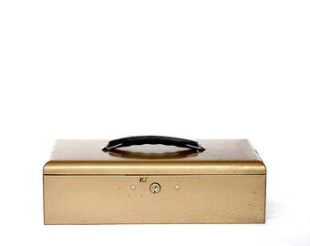 Vintage Metal Box - Industrial Metal Box - Vintage Industrial Decor - Vintage Metal Cash Box - Vintage Metal Storage Box - Rockaway Metal