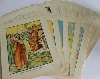 Children's  Vintage illustrations & text pages/ephemera/