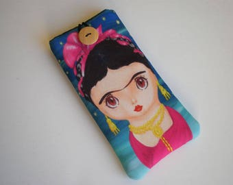 iPhone X sleeve, Galaxy S8 case, Cell phone case, Nokia case, Huawei P10 sleeve, Moto case, ZTE case, LG sleeve, Xperia sleeve, Frida Kahlo