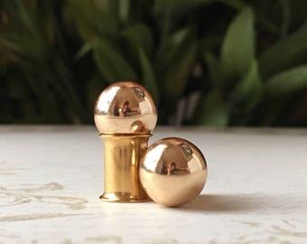Gold Ball Plugs, gauges   4g, 2g, 0g, 00g, 5mm 6mm 8mm 10mm