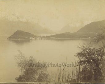 Lake Como Italy antique albumen photo by Bosetti