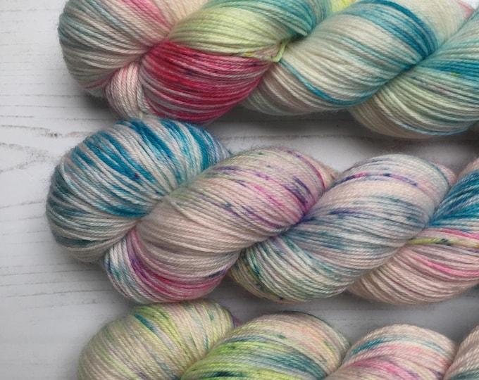 Sherbet Pips  - 100grams 75/25% Merino and Nylon  Superwash merino  4 ply wool