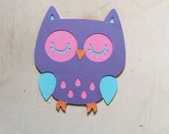 Scrapbook Embellishment, Owl Die Cuts - Set of 4