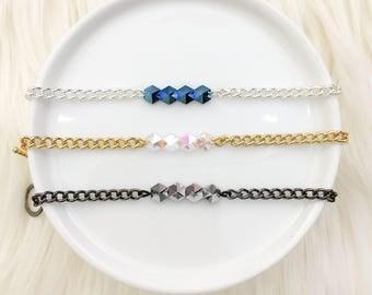 Layering Mini Spike Bracelets - Mikaylove