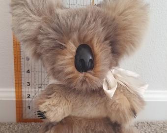 Vintage stuffed koala made from kangaroo fur
