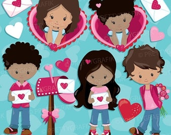 80% OFF SALE Valentine clipart Kids commercial use, Valentine clipart, vector graphics, digital clip art, digital images  - CL941
