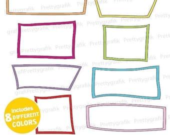 80% OFF SALE label frames clipart commercial use, vector graphics, digital clip art, digital images  - CL539